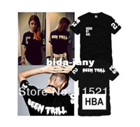 Wholesale Kanye West Trill - Wholesale-Free Shipping Hood By Air HBA X Been Trill Kanye West Short-sleeved t-shirt Men's   women's HBA fashion lovers t-shirts