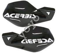 bicicletas venda por atacado-Acerbis Uniko preto plástico mão guardas se encaixa Honda Dirt Bikes motocicletas