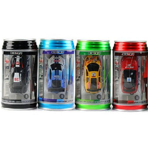 Mini RC Racing Coke Can Car,Remote Control R/C Car,4 Color Choices,Free Shipping!