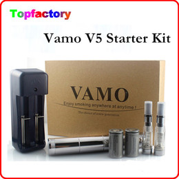 Wholesale Ego Kits Lcd - New Vamo V5 Starter ego Kit LCD Display Variable Voltage Battery CE4 Atomizer Clearomizer Electronic Cig Free Shipping
