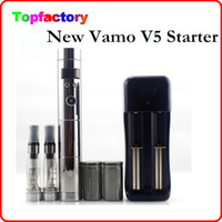 Wholesale Ego Lcd Dhl - Vamo V5 Starter Ego Kit LCD Display Variable Voltage Battery CE4 Atomizer Clearomizer with Gift Box Free DHL