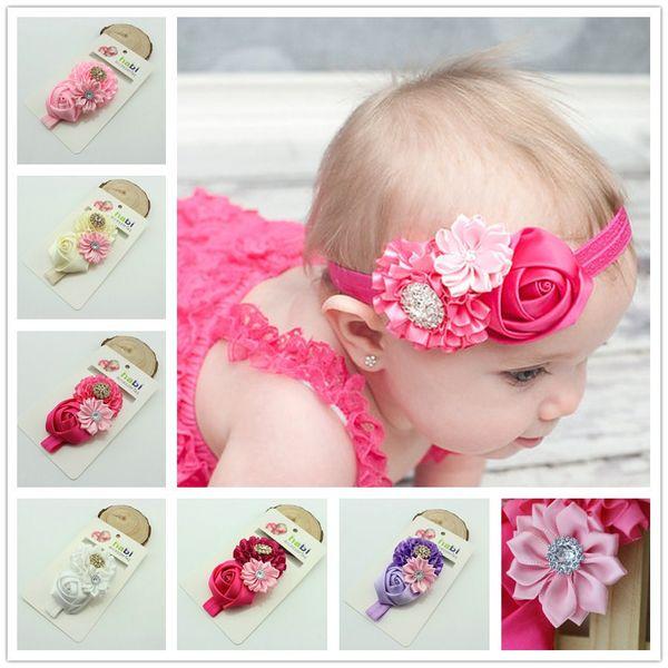 Les nouveaux accessoires de cheveux pour enfants commerce extérieur bandeau bébé rose bandeau bébé en Europe et en Amérique
