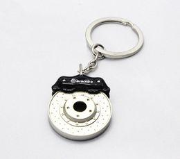 Wholesale Wholesale Car Brake Parts - new arrived Creative Hot Sale Disc Brake Shape Auto Parts Keychain Key Chain Ring Key Fob Keyring black free shipping