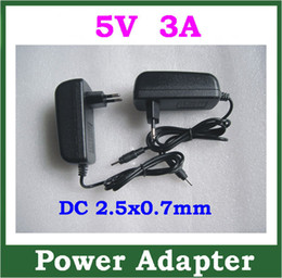 Wholesale Sanei Quad Wholesale - 5pcs 5V 3A 2.5x0.7mm Power Adapter Supply for Quad Core Tablet PC Sanei N10 Ampe A10 Ainol Hero II Spark Eternal T7s T10s Chuwi V99 Charger