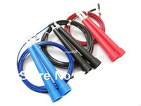 Wholesale Gym Jump Rope Plastic - Free Shipping 3 m Plastic Skipping Jumping Ropes with bearing for Crossfit Speed jump Gym Training