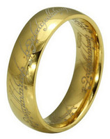 лорд кольца кольца оптовых-Бесплатная доставка Оптовые Lots Mix Размер Charm Titanium Мужчины Женщины Ювелирные изделия Vintage Gothic 18K Gold Plated Властелин Колец