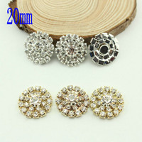 Wholesale Creating Flowers - Free Shipping Wholesale 60pcs lot Mix Colors 20mm Flatback Rhinestone Button For Hair Flower Wedding Invitation