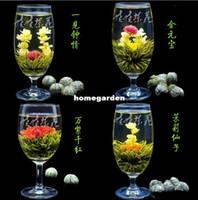 Wholesale Blooming Teas Wholesale - Wholesale-Freeshipping 16 Kinds Handmade Blooming Flower Flowering Green Artistic Tea Ball - HOT ITEM