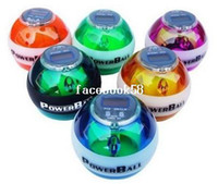 Wholesale PowerBall Gyroscope LED Wrist Strengthener Ball SPEED METER Power Grip Ball Power Ball