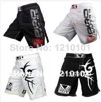 HOT 2014 MMA Luta Shorts homens de alta moda pontapé de boxe shorts Muay Thai homens curtas quick-dry shorts plus size M-XXL Frete grátis
