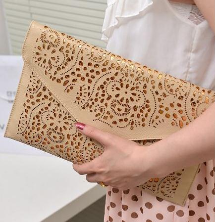 2014 Hollow Out Clutch Bag With Chain Pu 0519b8 Italian Leather ...