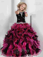 Wholesale Boutique Dress 12 - 2015 Hot Special offer Organza Girl's Pageant Dresses Ruffle Rhinestone Boutique lovely style Organza Flower Girl Dresses Party Gowns AS6