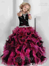 Wholesale Special Offers Dresses - 2015 Hot Special offer Organza Girl's Pageant Dresses Ruffle Rhinestone Boutique lovely style Organza Flower Girl Dresses Party Gowns AS6