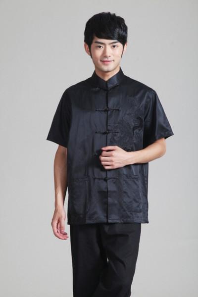 Frete Grátis 2015 venda quente a tendência nacional roupas estilo chinês top tradição Chinês 100% camisa de seda tang terno Tai chi camisa 2342-1