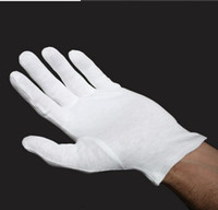 Wholesale Wholesale White Cotton Gloves - 12 pairs   coin silver jewelry white glove inspection quality cotton gloves