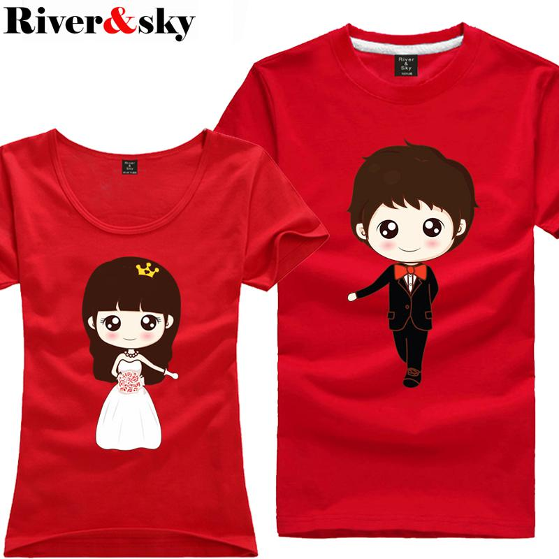 Riversky Personalized T Shirt Lovers Korean Version Of Casual ...