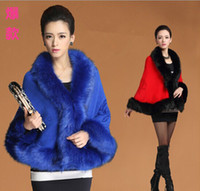 Wholesale ladies fur ponchos - Gorgeous solid wool pashmina feeling arcylic Faux fur jacquard Cape Poncho Cardigan Knitting lady shawl stole wraps Sweater #3620