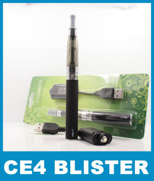 Best eGo Blister electronic cigarette kit starter kits with CE4 rebuildable atomizer and 650 mAh 900mAh 1100mAh ego t battery Various colors