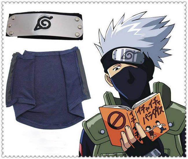 2018 Set! Naruto Kakashi Cosplay Ninja Mask + Cosplay