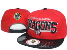 Wholesale Afl Caps - St George Illawarra Dragons red black NRL team hats AFL Snapback Caps Sport baseball hats Man snapback hats 1pcs lot Free shipping DDMY