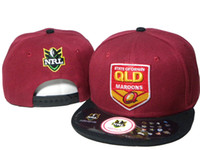Wholesale Team Snap Backs - TOP SALE STATE OF ORIGIN QLD MARRONS NRL sport team brand new snapback hats adjustable snap back sports ball caps snapbacks hats DDMY