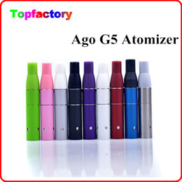 Wholesale E Cig Dry Liquid - AGO G5 Atomizer Clearomizer Wind proof for Electronic Cigarette Dry Herb Vaporizer G5 Pen Style E cig Suit for Cut tobcco Liquid Herb DHL