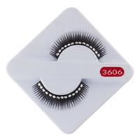 Wholesale Diamond Lashes - Curling 10Pairs Beautiful cross long False Eyelashes with white diamonds Brand New Design Dropshipping