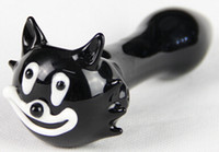 """Wholesale Usa Cats - 2pcs lot Cat glass pipe 4.5"""" black smoking pipe glass pipe free shipping to USA"""