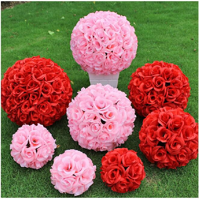 New artificial encryption rose silk flower kissing balls large hanging ball christmas ornaments wedding party decorations new artificial encryption rose silk flower kissing balls large hanging ball christmas ornaments wedding party decorations artificial