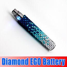 Wholesale E Cigarette Battery Colorful Diamond - Hot Sale !!! Bling diamond ego battery Colorful e Cigarette battery Electronic Cigarette diamond battery with high quality goodwillbiz
