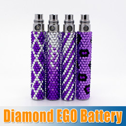 Wholesale E Cigarette Girl - Bling Diamond EGO Battery Colorful E Cigarette Battery E Cig Diamond Battery for Girls Women Free Shipping