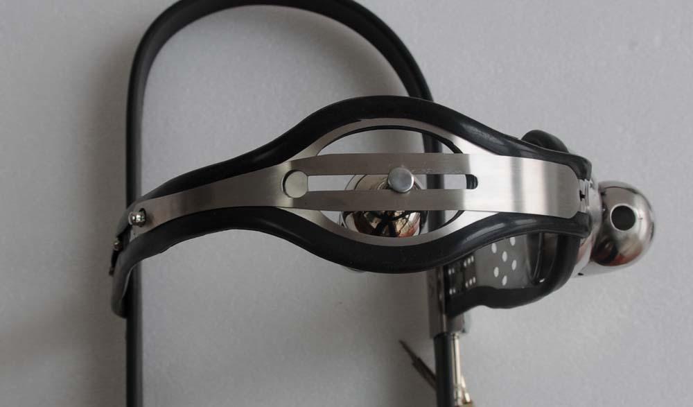 Cinturón de castidad anal de acero inoxidable tipo T totalmente ajustable macho sfdgdfhth