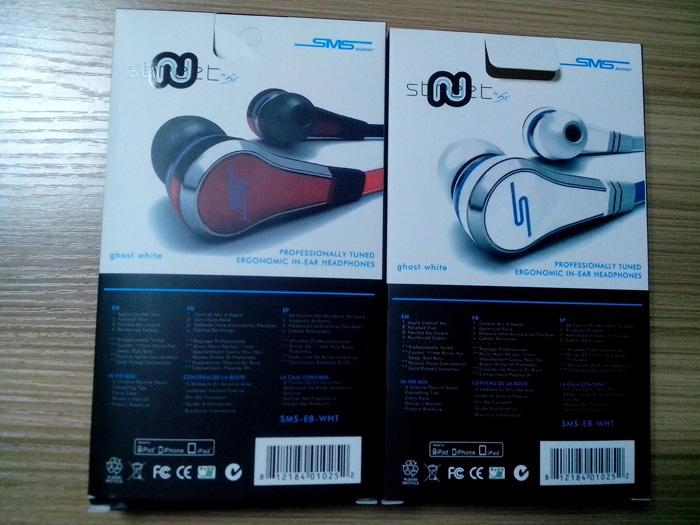 Drop Ship 50 centavo SMS Auriculares Audio Mini Inearphone auriculares Auriculares con micrófono Street By Retail Pack para iPhone Samsung