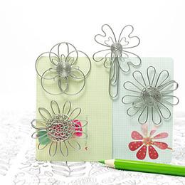 A80 FIORI SET / 4 CARTA / NOTE CLIP PRATICO NOVITÀ CREATIVE FILO INOSSIDABILE ARTIGIANATO FATTO A MANO MATRIMONIO MATRIMONIO COMPLEANNO UFFICIO REGALO PRESENTE da fiori fatti a mano fornitori