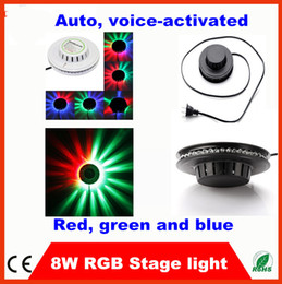 Wholesale Disco Stage Design - HOT!!! UFO shape ,30PCS per lot, 8W RGB Magic Color Super Bright Strobe 48 leds LED Stage Lights new Design For Pub,Show,Wedding,Disco