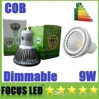 Wholesale 277v Led Spot Lights - AC 85-277V Dimmable 9W COB Led Spot Bulbs Light GU10 E27 E26 MR16 Led Lights 120 Angle CRI>88 600lm Warm Cool White + CE ROHS UL CSA