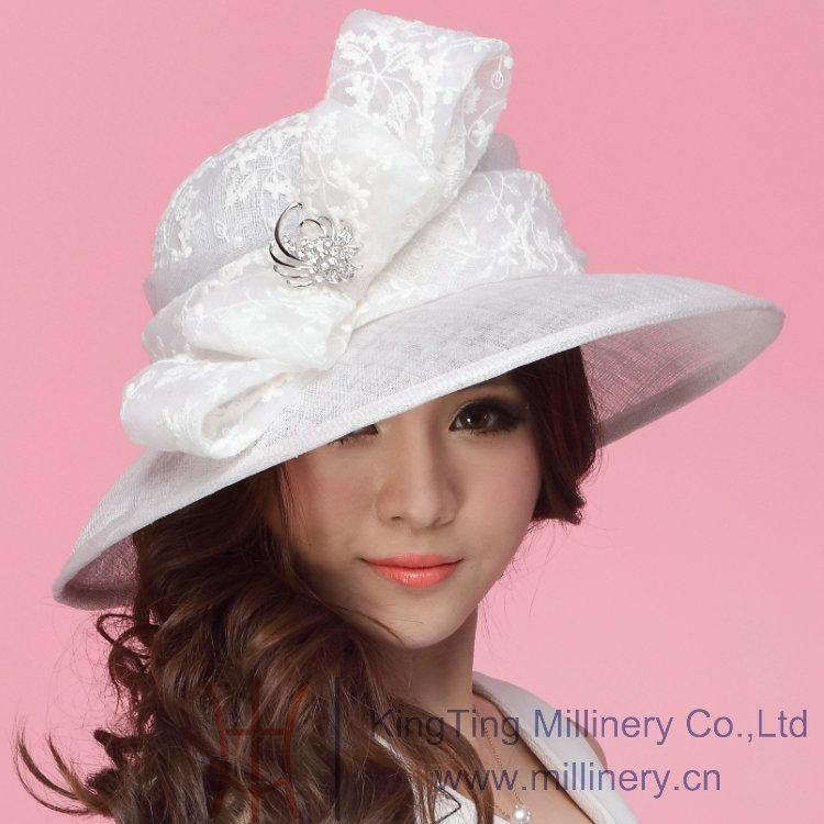 Fashion Dress Hat Women Hat Summer Hat Sinamay Hat Church Hat Sinamay Lace Bow Sinamay Fabric Handmade Lace Hat Fashion Hat White Boonie Hat Fedoras