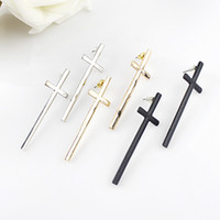 Wholesale Dangle Cross Stud Earrings - Fashion design elegant alloy punk dangle cross stud earrings