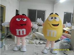 MM's M Candy chocolat Spokescandy Costume de mascotte Costume de personnage de dessin animé livraison gratuite en Solde