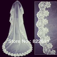 Wholesale Big Long Veil - Fast Delivery Hot Sale Big Discount One Layer Lace Edge Best Price Bridal Veil Long