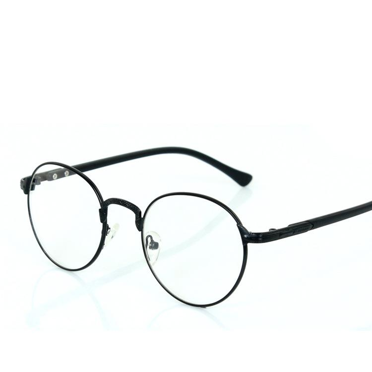 Retro Round Glasses Frame Metal Frame Round Frame Tide Men Finished ...