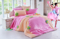 Wholesale Set Princess Skirt - BLUE yellow korean Princess lace ruffle bed skirt fitted bed sheets 6pcs set 100%cotton Luxury lace bedding King Queen duvet cover mattress