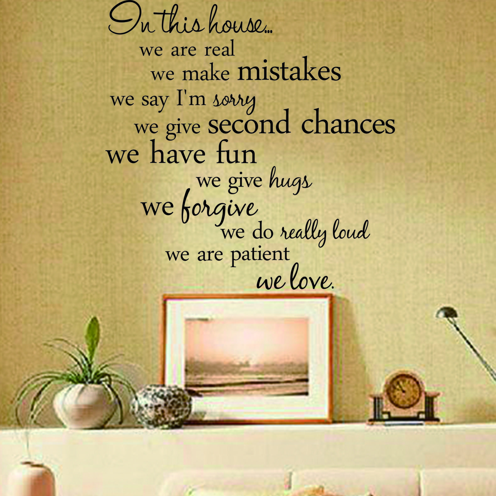 In This House We Love Wall Decal Inspirational Quote Home Decal ...