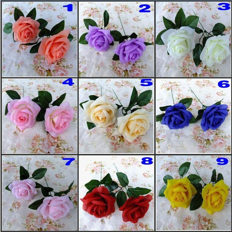 Yeni Yapay Gül İpek Çiçek Güzel Düğün Buket Ev Mobilyası Noel Süs Çekim Çekim Prop Malzemeleri 18 renkler