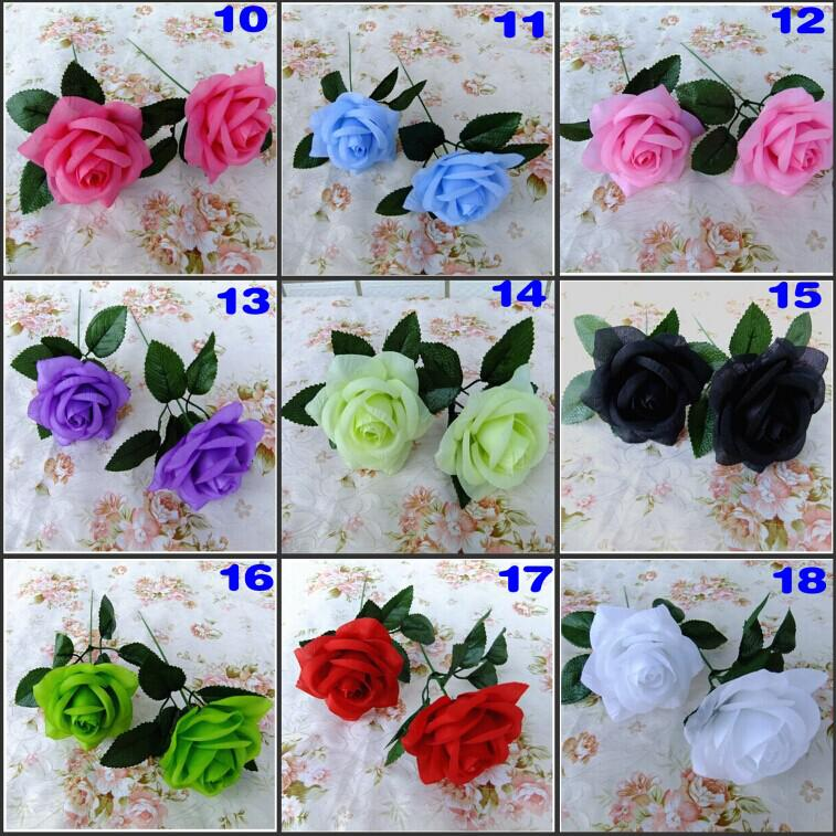 Top Quality New Artificial Rose Silk Flower Beautiful Wedding Bouquet Home Furnishings Christmas Ornament Shooting Prop Supplies