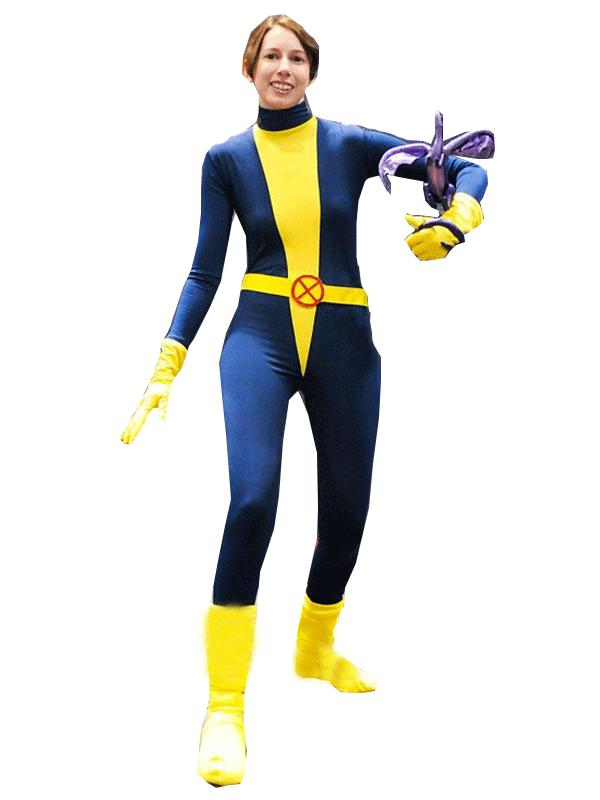 Kitty Pryde Lycra Spandex Freeshipping Superhero Costume Lady Costume for Cosplay