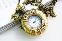Wholesale Victorian Pocket Watch Pendant - Vintage Copper Steampunk Victorian Mini Perfume Bottle Pocket Watch Necklace Pendant Bronze flask Ring KeyChain Clocks