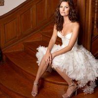 Wholesale Cheap Short Casual Wedding Dresses - Short Beach Wedding Dresses Flower Skirt 2015 Casual Cheap Wedding Dress