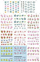 Wholesale Nail Decals Ble - Wholesale-Free shipping sell 50pcs nail accessories BLE water decal with 5 models choice at most