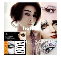 Wholesale Eye Liner Stickers - Wholesale-5packs ( 4pairs pack ) Eye Liner Tattoos Mixed Designs,Temporary Tattoo Eye Shadow Sticker Eye Beauty Makeup Tools Free Shipping